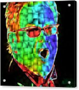 Elton John in Cubes 2 Acrylic Print