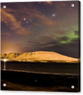 Elv Or Troll And Viking With A Sword In The Northern Light Acrylic Print