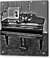 Elvis And The Black Piano ... Acrylic Print