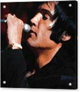 Elvis Black Acrylic Print