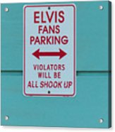 Elvis Fans Parking Acrylic Print