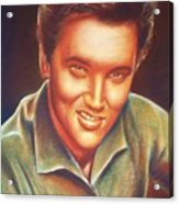 Elvis In Color Acrylic Print by Anastasis  Anastasi