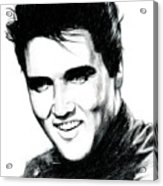 Elvis Acrylic Print by Lin Petershagen