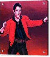 Elvis Presley 4 Painting Acrylic Print