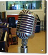 Elvis Presley Microphone Acrylic Print