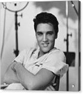 Elvis Presley On Set During Movie Making Acrylic Print