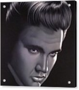 Elvis Presley Portrait Acrylic Print