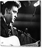 Elvis Presley, Recording In The Studio Acrylic Print by Everett