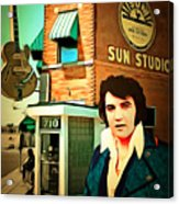 Elvis Presley The King At Sun Studio Memphis Tennessee 20160216 Square Acrylic Print