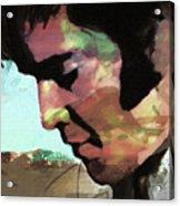 Elvis shadows and trees Acrylic Print