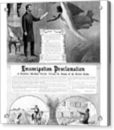 Emancipation Proclamation Acrylic Print by War Is Hell Store