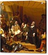 Embarkation Of The Pilgrims Acrylic Print