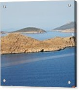 Emborio Harbour On Halki Island Acrylic Print