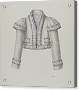 Embroidered Bolero Jacket Acrylic Print