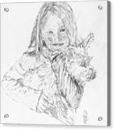 Emelyne With Er Dog Acrylic Print