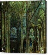 Emerald Arches Acrylic Print