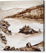 Emerald Bay Monochrome Acrylic Print