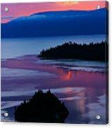 Emerald Bay Sunrise Portrait Acrylic Print