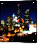 Emerald City Color Spots C060 Acrylic Print