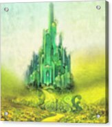 Emerald City Acrylic Print by Mo T