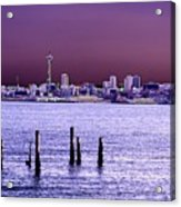 Emerald City Skyline Acrylic Print