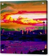 Emerald City Sunset Acrylic Print