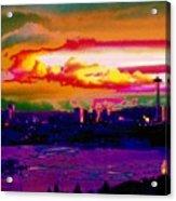 Emerald City Sunset Acrylic Print
