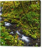 Emerald Falls And Creek In Autumn  Acrylic Print