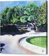 Emerald Fountain Acrylic Print