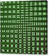 Emerald Green And Oak Stump Abstract Acrylic Print