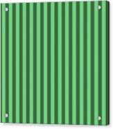 Emerald Green Striped Pattern Design Acrylic Print