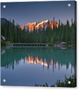 Emerald Lake At Sunrise Hour Acrylic Print
