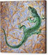 Emerald Lizard Acrylic Print