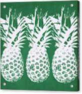 Emerald Pineapples- Art By Linda Woods Acrylic Print