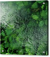 Emeralds Under Ice Acrylic Print