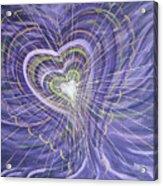 Emerging Heart Acrylic Print by Judy M Watts-Rohanna