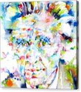 Emil Cioran - Watercolor Portrait Acrylic Print