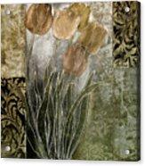 Emily Damask Tulips II Acrylic Print