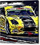 Emily Linscott On The Racetrack - Ginetta Junior Championship Acrylic Print