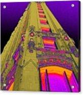 Emily Morgan Hotel With Cobalt Sky Acrylic Print