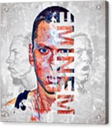 Eminem Portrait Acrylic Print