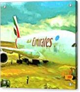 Emirates A380 Airbus Pop Art Acrylic Print