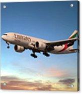 Emirates Boeing 777f A6-efm Acrylic Print