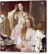 Emma And Federica Bankes Of Soughton Hall  Acrylic Print