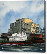 Emma Foss Barge Assist Acrylic Print