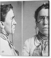 Emma Goldman 1869-1940 Mugshots. She Acrylic Print