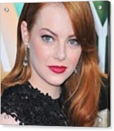 Emma Stone Wearing Fred Leighton Acrylic Print by Everett