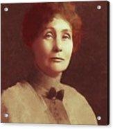 Emmeline Pankhurst, Suffragette Acrylic Print