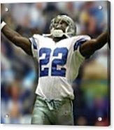 Emmitt Smith, Number 22, Running Back, Dallas Cowboys Acrylic Print