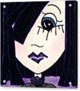 Emo Girl Iv Acrylic Print